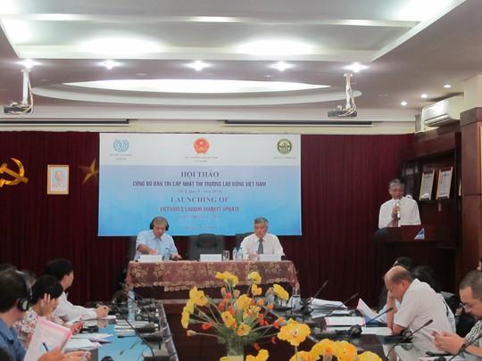 Hội thảo công bố bản tin cập nhật thị trường lao động Việt Nam sáng 1-7 tại Hà Nội. ảnh V Duẩn