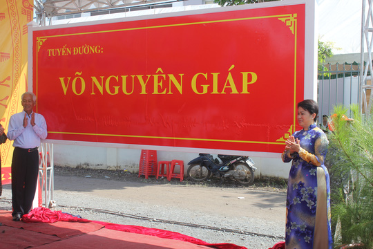 Tên của Đại tướng được trân trọng đặt tên cho tuyến đường