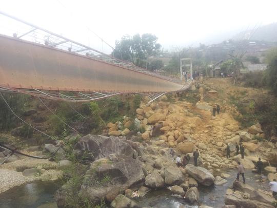 Hiện trạng cây cầu treo sau khi bị đổ