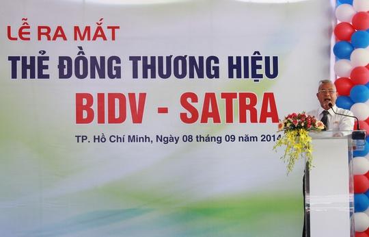 Ông Trần Thành Nam - Phó Tổng Giám đốc SATRA phát biểu tại lễ ra mắt