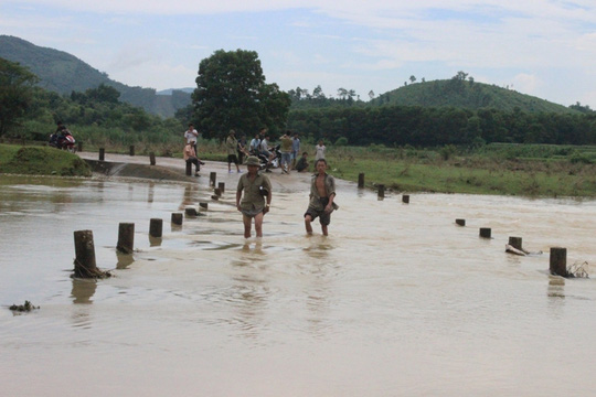 Tràn Cầu Hồ, xã Mậu Lâm, huyện Như Thanh - Thanh Hóa, nơi 3 em nhỏ bị nước lũ cuốn trôi