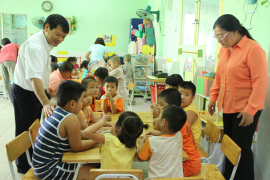 Trường mầm non Tân Tạo có khoảng 250 bé theo học
