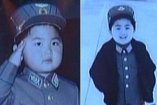Ảnh ông Kim Jong un khi còn bé. Ảnh: KCTV