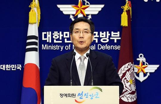 Phát ngôn viên Bộ Quốc phòng Hàn Quốc Kim Min Seok. Ảnh: Yonhap