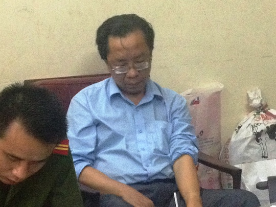 Ông Lê Văn Hào Hoa, một trong 9 đối tượng trong đường dây lừa đảo bằng công nghệ cao bị bắt giữ.