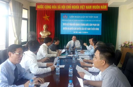 Liên đoàn Luật sư Việt Nam kêu gọi giới luật sư toàn thế giới lên án hành vi của Trung Quốc