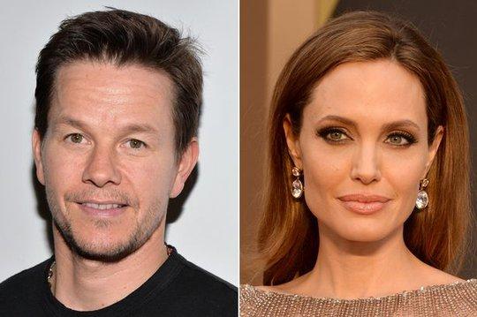 Diễn viên Mark Wahlberg và Angelina Jolie. Ảnh: Mirror
