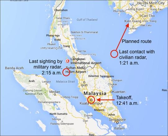 Chính phủ Malaysia khiến lực lượng tìm kiếm cứu hộ quốc tế phí cả 1 tuần tìm kiếm sai khu vực. Ảnh: The Week