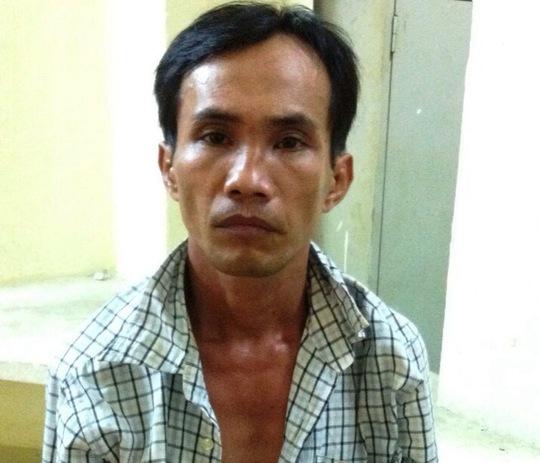 Đối tượng Nguyễn Phước Trường tại cơ quan công an.