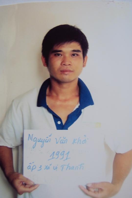 Nguyễn Văn Khởi khi bị bắt