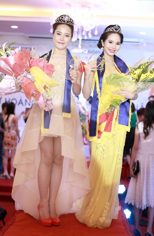 Hai thí sinh đoạt giải cao nhất của cuộc thi Nữ hoàng sắc đẹp Việt Nam