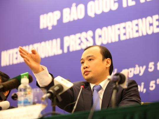 Người phát ngôn Bộ Ngoại giao Lê Hải Bình nêu rõ Việt Nam hoan nghênh Nghị quyết của Thượng viện Mỹ về Biển Đông - Ảnh: Nguyễn Quyết