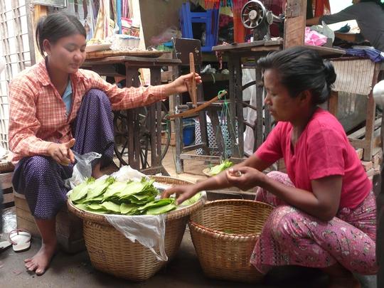 Chợ Bagan buổi sớm