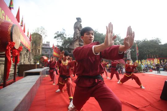 Màn biểu diễn võ thuật ca ngợi tinh thần thượng võ của nghĩa quân Tây Sơn