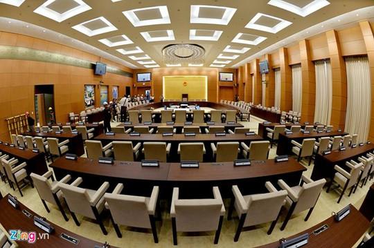 Đầu tuần tới, phòng họp này sẽ được sử dụng trong phiên họp tháng 10 của Ủy ban Thường vụ Quốc hội.