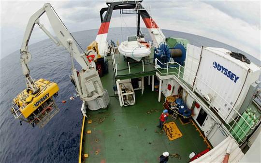 Công ty thám hiểm hải dương Odyssey chịu trách nhiệm khai thác số kho báu còn lại. Ảnh: Reuters