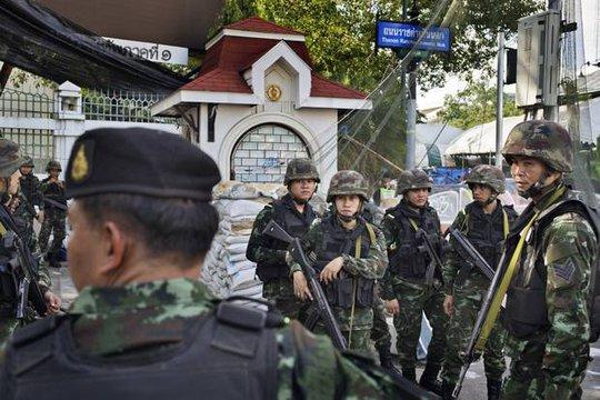 Quân đội Thái Lan được cho là đang tiến hành cuộc thanh trừng chính trị. Ành: New York Times