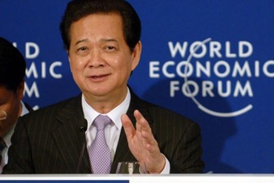 Thủ tướng Nguyễn Tấn Dũng phát biểu tại WEF Đông Á. Ảnh: VGP/Nhật Bắc