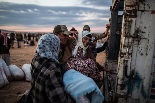 Trong những ngày gần đây số người tị nạn từ Syria sang Thổ Nhĩ Kỳ đã lên đến 150.000 người. Ảnh: New York Times