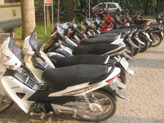 14 xe máy là tang vật được công an thu giữ
