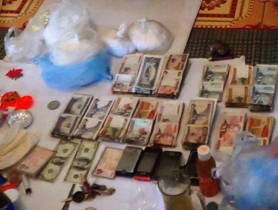 Những tang vật thu giữ trong vụ án buôn bán ma túy xuyên quốc gia