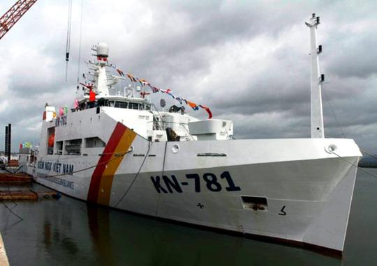 Tàu kiểm ngu KN-781 hiện là một trong những tàu tuần tra lớn nhất của Việt Nam