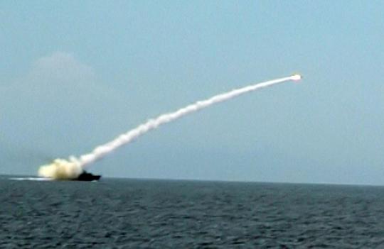Phóng tên lửa Kh-35 từ tàu HQ-377