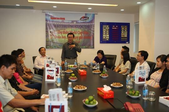 Lễ tổng kết và trao giải cuộc thi Đoán hay, rinh ngay giải thưởng World Cup 2014 của báo Người Lao Động