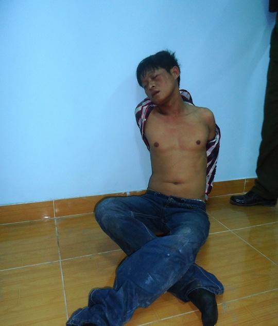 Đối tượng trộm sau khi bị công an bắt.