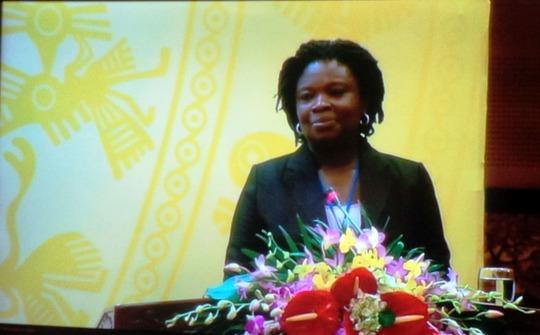 Giám đốc Quốc gia Ngân hàng Thế giới tại Việt Nam, bà Victoria Kwakwa nhấn mạnh vai trò quan trọng của DN tư nhân