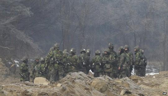 Cuộc tập trận quân sự giữa Hàn Quốc và Mỹ sẽ sớm diễn ra. Ảnh: AP