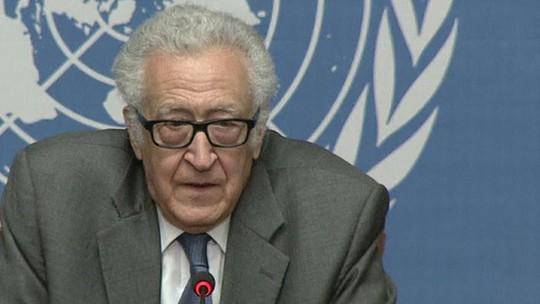 Ông Lakhdar Brahimi, hòa giải viên Liên Hiệp Quốc, bày tỏ hy vọng cuộc đàm phán có nhiều tiến triển. Ảnh: BBC