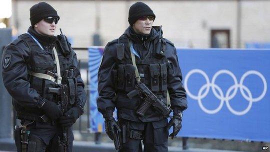 An ninh Thế vận hội Mùa đông tại Sochi được thắt chặt. Ảnh: AP