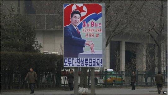 Người dân Triều Tiên đi bỏ phiếu bầu cử thành viên quốc hội. Ảnh: AP