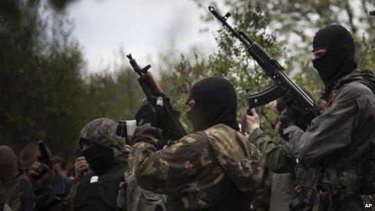 Quân đội Ukraine đã mở chiến dịch tấn công lực lượng nổi dậy tại thành phố Slavyansk ở miền Đông. Ảnh: AP