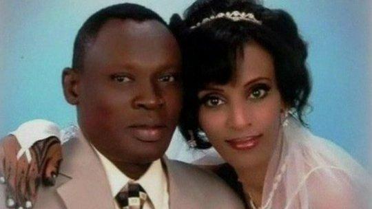Cô Meriam Ibrahim kết hôn với một người đàn ông đạo Ki tô năm 2011. Ảnh: BBC