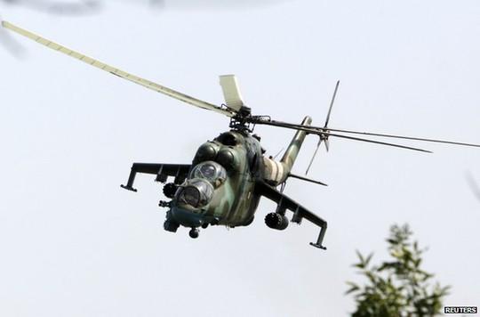 Máy bay của quân đội Ukraine trên bầu trời Donetsk hôm 22-8.