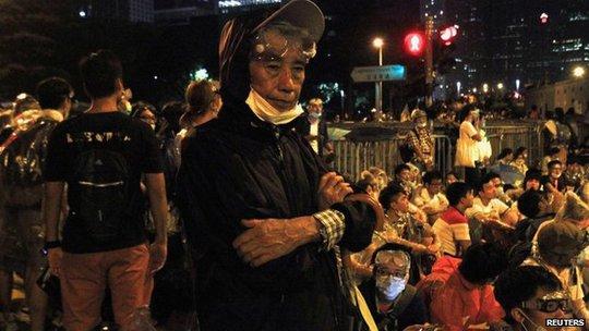 Lực lượng biểu tình không chỉ sinh viên mà còn người già
