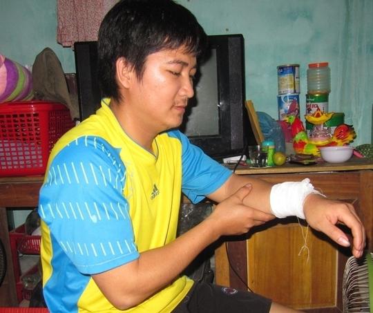 Anh Chung bị thương nhẹ hiện đã xuất viện