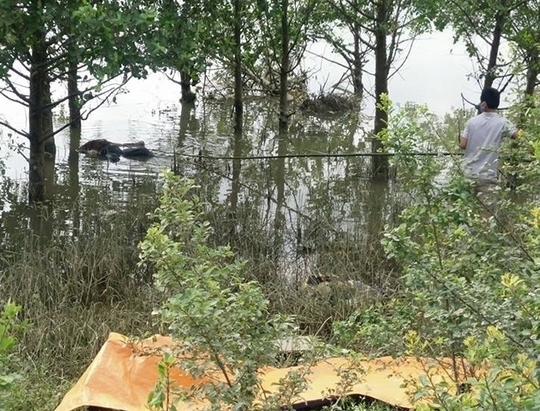 Thi thể bà Vị được phát hiện trên sông Lam.