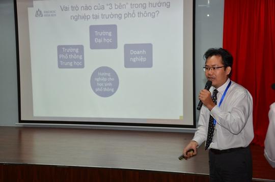 ThS Hoàng Đức Bình, Giám đốc Truyền thông – Tuyển sinh Trường ĐH Hoa Sen