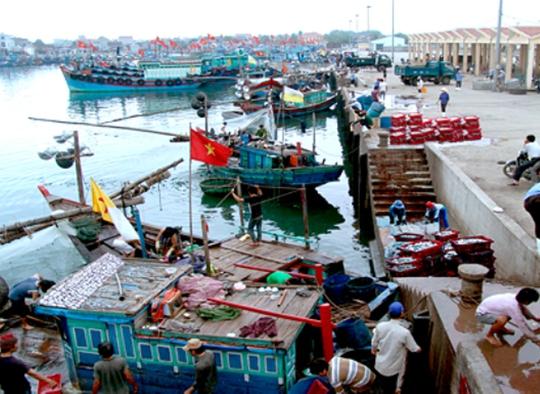 Cảng Lạch Bạng nơi xảy ra vụ nổ tàu gây hỏa hoạn