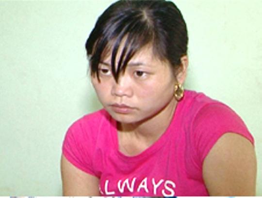 Đặng Thị Huyền bị công an bắt giữ tại một nhà nghỉ ở huyện Thọ Xuân - Thanh Hóa
