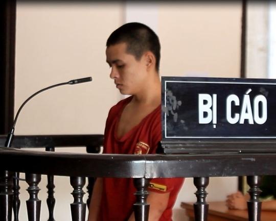 Bị cáo Ba tại phiên tòa.