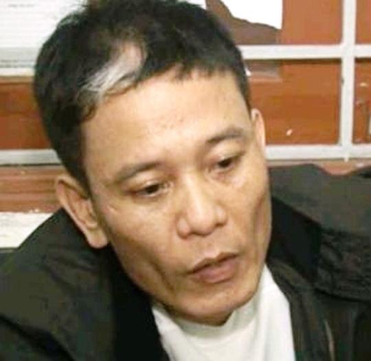 Trương Ngọc Dương tại cơ quan công an.