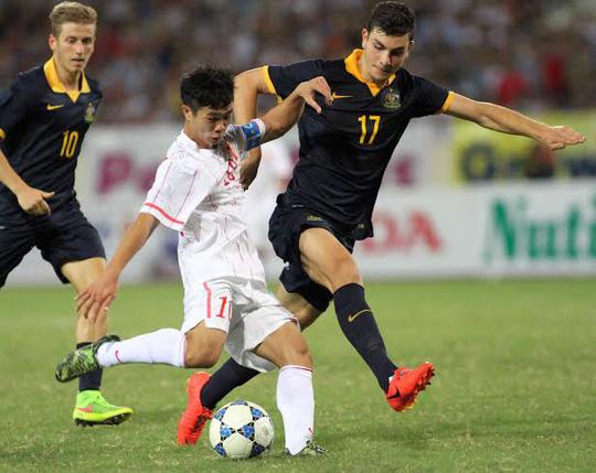Công Phượng ghi bàn vào lưới tuyển U19 Úc