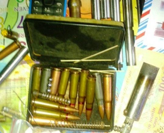 Số đạn được cơ quan công an Nam Định thu được