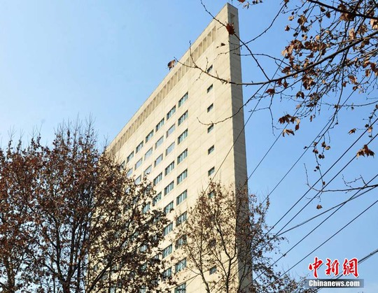 Tòa nhà 16 tầng siêu mỏng ở thành phố Thạch Gia Trang. Ảnh: China News