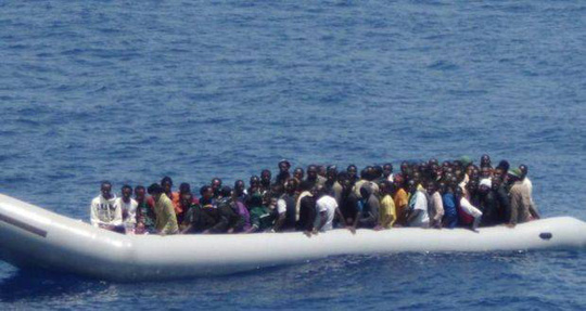 Những người di cư đang tháo chạy khỏi Bắc Phi, chủ yếu từ Libya, tăng nhanh trong những năm gần đây. Ảnh: Reuters