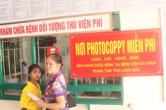 Để giảm thời gian chờ đợi người bệnh BV thực hiện photo miễn phí các giấy tờ phục vụ khám chữa bệnh
